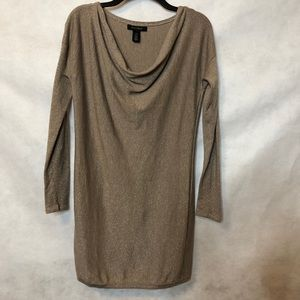 WHBM Cowl Necked Shimmer Sweater Dress Size XS